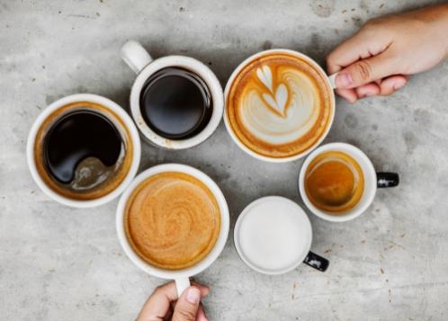 Cafés en grain<br /> et boissons chaudes